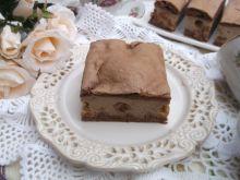 Sernik czekoladowy na kruchym cieście z rodzynkami