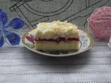 Sernik gotowany z domową galaretką i śmietanką