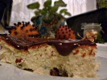 Sernik klasyczny z polewą czekoladową