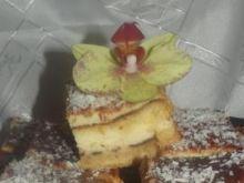 Sernik na biszkopcie z czekoladową nutą