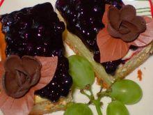 Sernik na kruchym cieście z jagodami: