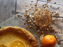 Sernik pomarańczowy na ciasteczkowym spodzie