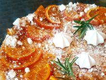 Sernik pomarańczowy z karmelizowanymi pomarańczami