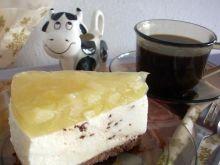 Sernik waniliowo-czekoladowo-gruszkowy