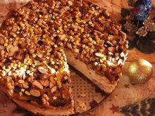 Sernik waniliowo-migdałowy z białą czekoladą