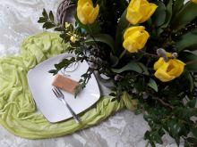 Sernik waniliowy z polewą chałwową