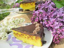 Sernik wiedeński w polewie czekoladowej