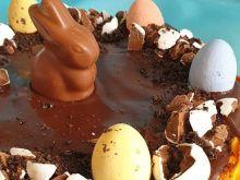 Sernik z bakaliami i czekoladą