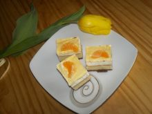 Sernik z bitą śmietaną, mandarynkami i galaretką