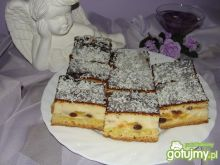Sernik z brzoskwiniami :)