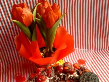 Sernik z mascarpone, truskawkami i Oreo