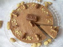 Sernik z masłem orzechowym i czekoladową pianką