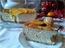 Sernik z nutą mandarynki i piernika
