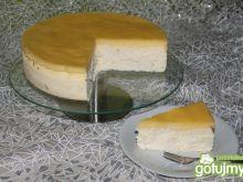 Sernik z polewa cytrynową