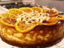 Sernik z ricottą, migdałami i pieczonymi pomarańczami