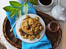 Sernikowe placuszki z karmelizowanym bananem