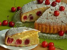 Serowe ciasto z czereśniami
