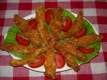 Sezamowe dramstiki z kurczaka
