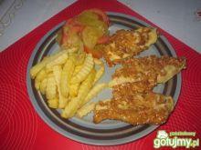 Sezamowe stripsy z serem i  cebulką