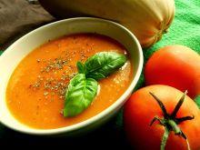 Sezonowa zupa krem z kabaczka i pomidorów