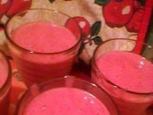 Shaker truskawkowy z lodami