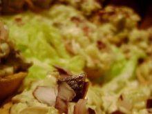 Skorupki wafelkowe z farszem serowo-grzy