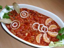 Śledzie z miodem  w pomidorach