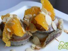 Śledziowe rolmopsy z pomarańczą