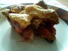 śliwki i jabłka w ciescie-ciasto owocowe
