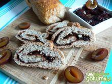 Śliwkowa rolada chlebowa
