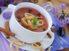 Śliwkowa zupa z naleśnikiem