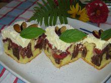 Śliwkowe ciasto z kremem