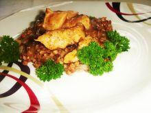 Śliwkowy kurczak z kaszotto