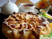 Jesienne ciasto z jabłkami i pigwą