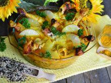 Słodkie, pieczone pałki z kurczaka w curry