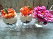 Słodkie pucharki makaronowe