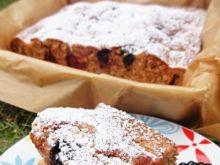 Słodko kwaśne ciasto jeżynowo- brzoskwin