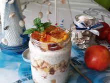 Słoikowy serniczek na zimno z chia, galaretką