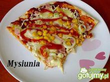 Smaczna pizza z mozarellą