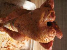 Smaczny kurczak lub kaczka