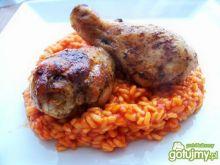 Smażone pałki z kurczaka z ryżem