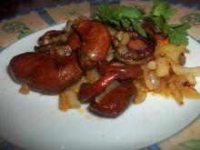 Smażone rydze z cebulą
