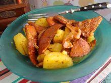 Smażone rydze z kartofelkami