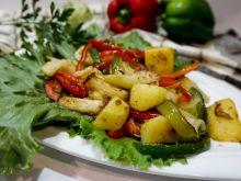 Smażone warzywa z kalarepką