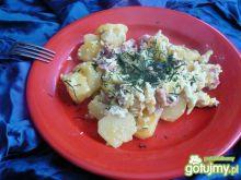 Smażone ziemniaki z boczkiem i jajkiem