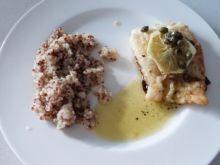 Smażony dorsz w sosie cytrynowo-kaparowym