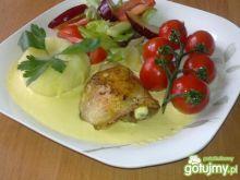 Smażony Kurczak z Pure z Kukurydzy