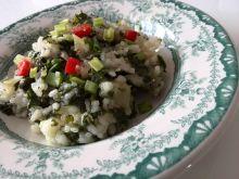 Smażony ryż z jarmużem