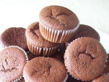 Smerfne muffinki z białą czekoladą