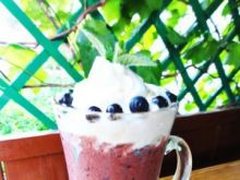 Smerfowy deser lodowo- kawowy